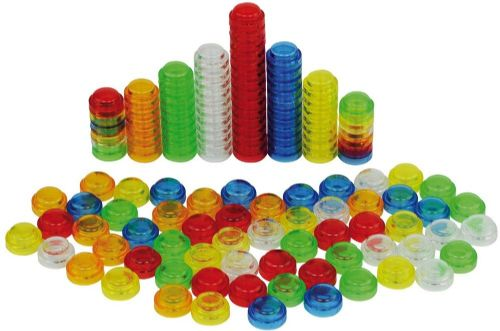 Translucent Stacking Counters (100 or 500pk)